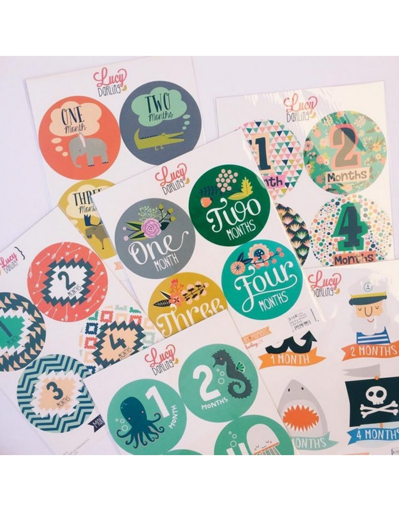 LUCY DARLING Lucy Darling Monthly Stickers