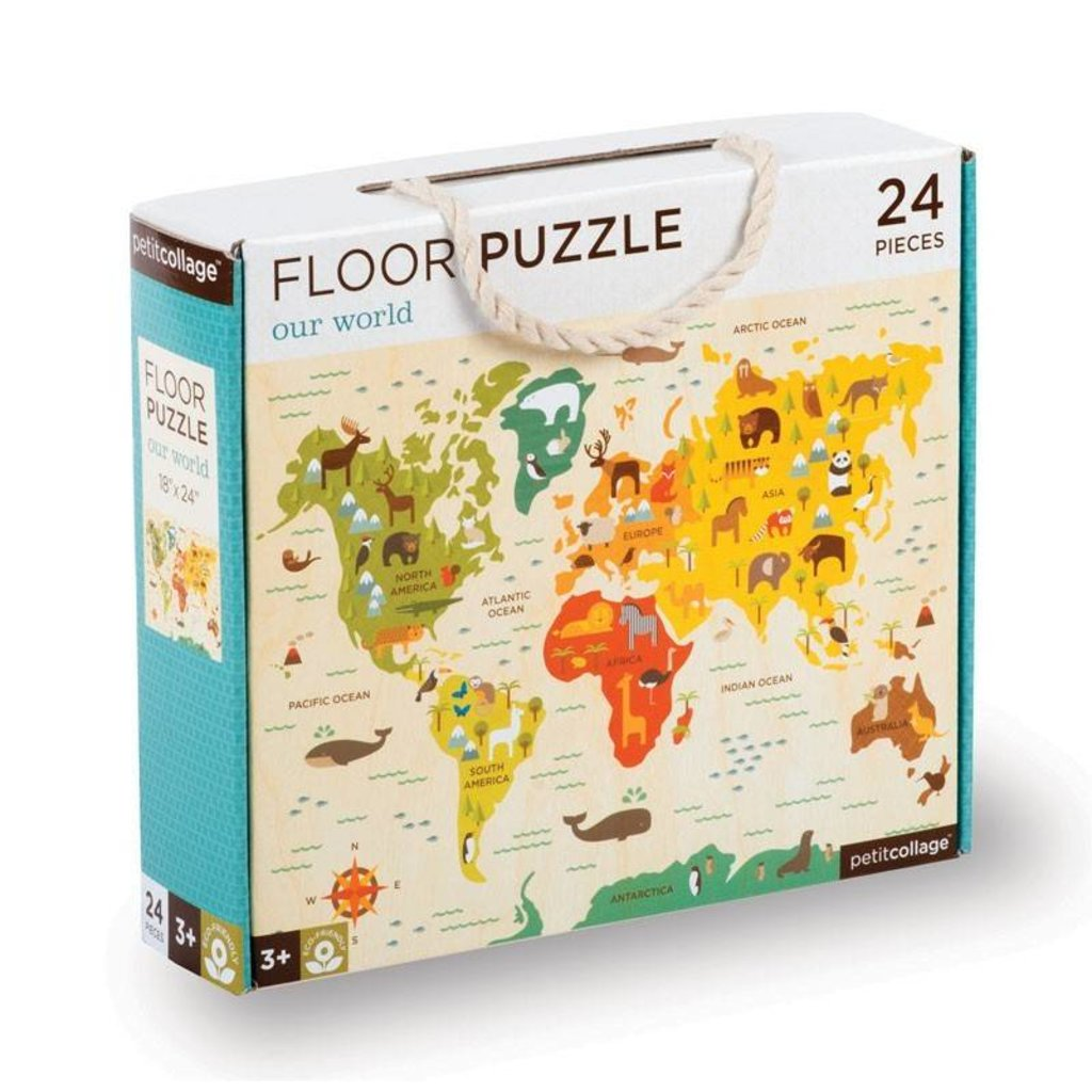 PETIT COLLAGE Our World Floor Puzzle