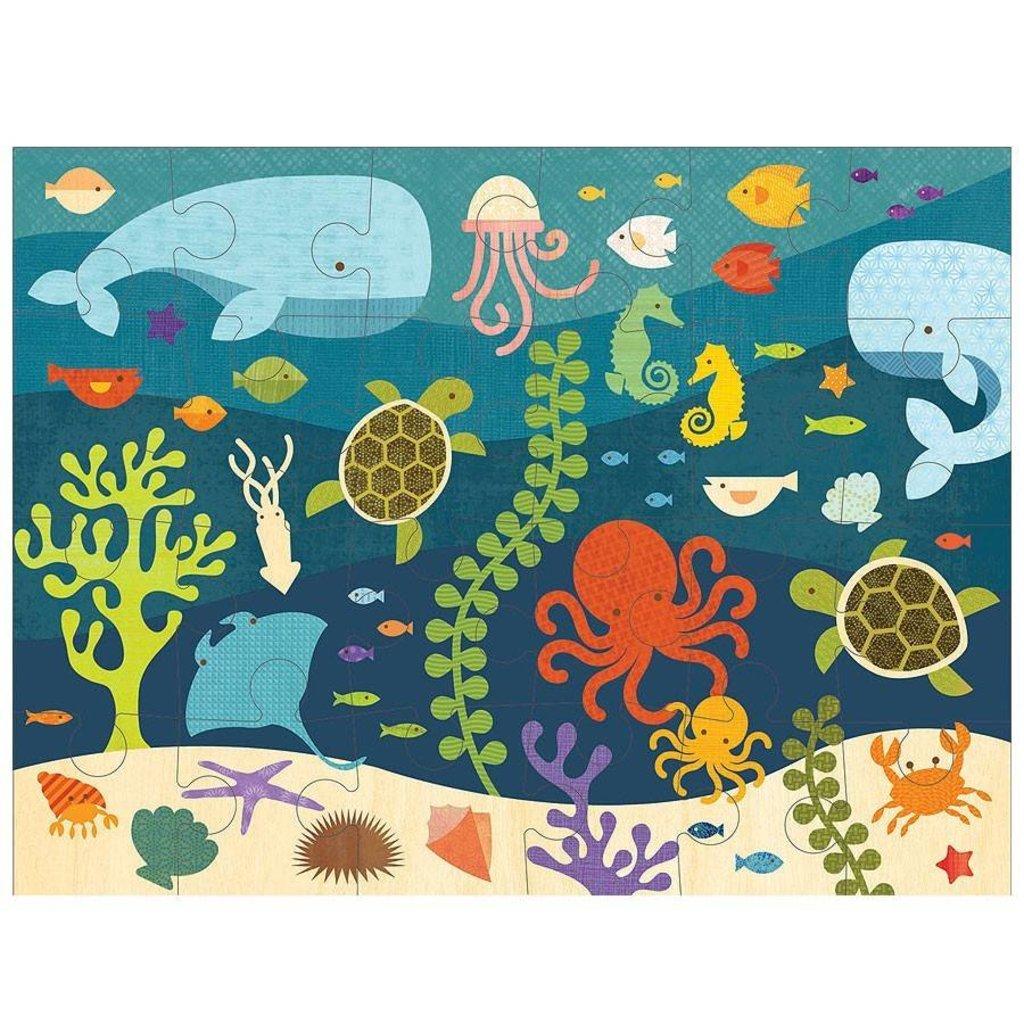 PETIT COLLAGE Petit Collage Ocean Life Floor Puzzle