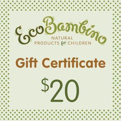$20 EcoBambino Gift Card