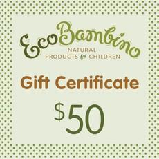 $50 EcoBambino Gift Card