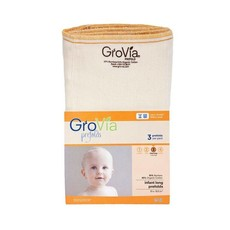 GROVIA GroVia Prefold Cloth Diapers - Pack of 3