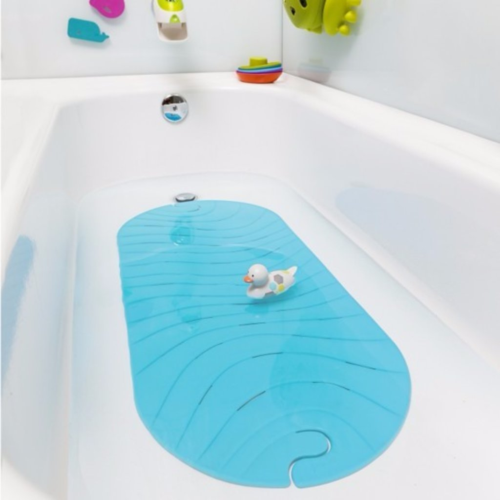 BOON, INC. Ripple Bath Mat Blue