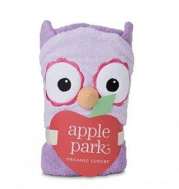 APPLE PARK Purple Owl Hooded Towel