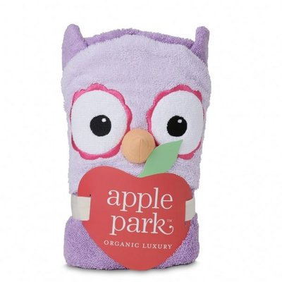 APPLE PARK Apple Park Purple Owl Hooded Towel