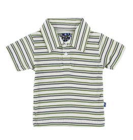 KICKEE PANTS Boy Fresh Water Stripe Polo