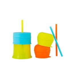 BOON, INC. SNUG Spout Universal Silicone Straw Lids and Cup