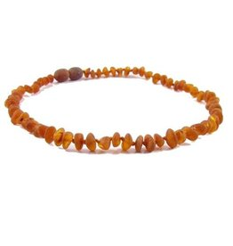 "THE AMBER MONKEY The Amber Monkey 12-13"" Unpolished Pop Clasp Necklace"