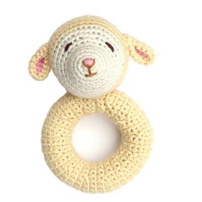CHEENGOO Cheengoo Lamb Ring Rattle