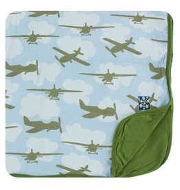 KICKEE PANTS Pond Airplanes Toddler Blanket