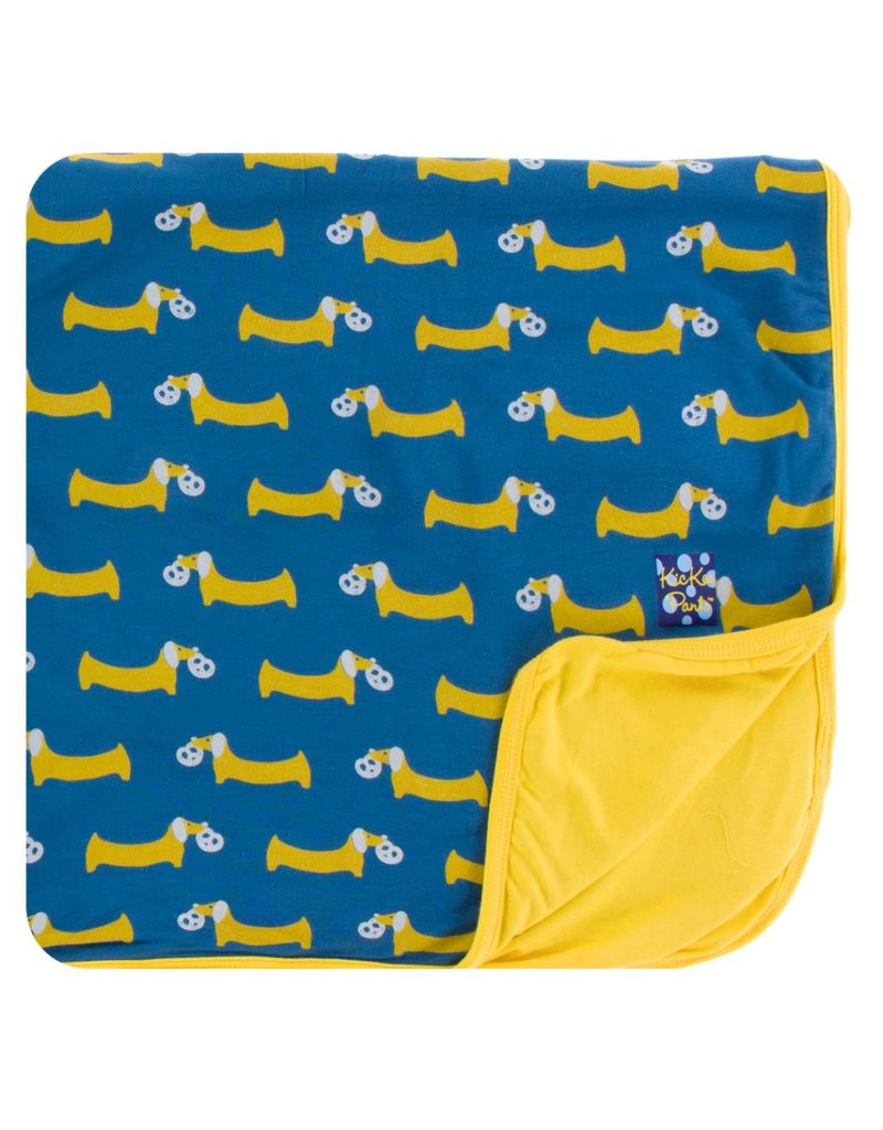 KICKEE PANTS Twilight Pretzel Pup Toddler Blanket