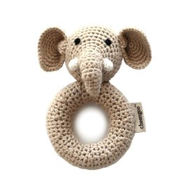CHEENGOO Elephant Ring Rattle