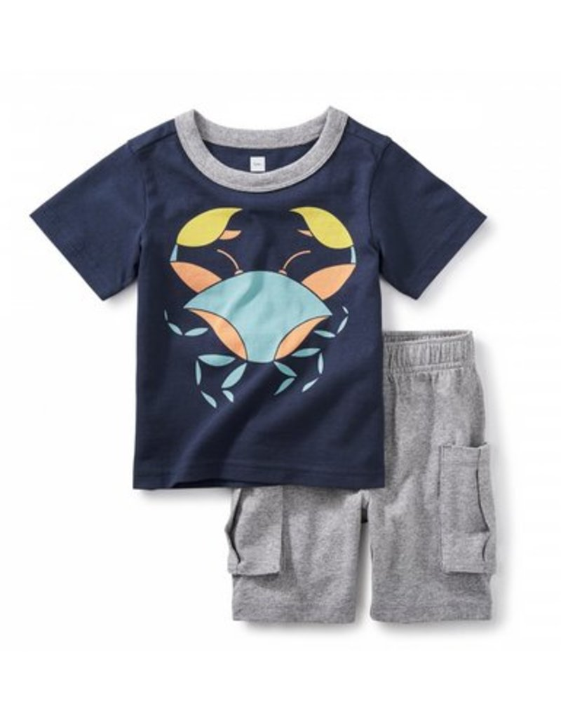 TEA COLLECTION Tea Little Crab Baby Outfit