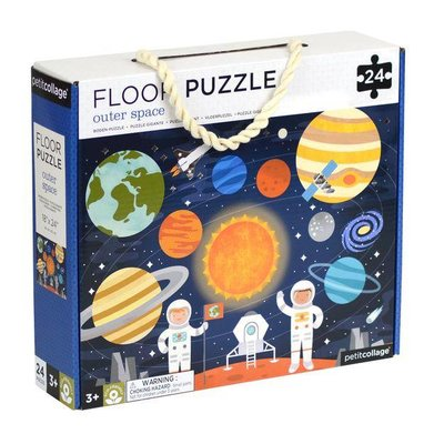 PETIT COLLAGE Petit Collage Outer Space Floor Puzzle