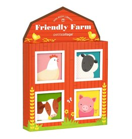 PETIT COLLAGE Friendly Farm Mini Library