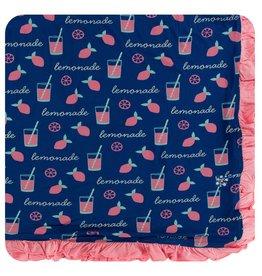 KICKEE PANTS Pink Lemonade Ruffle Toddler Blanket