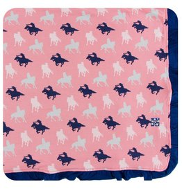 KICKEE PANTS Strawberry Cowgirl Ruffle Toddler Blanket