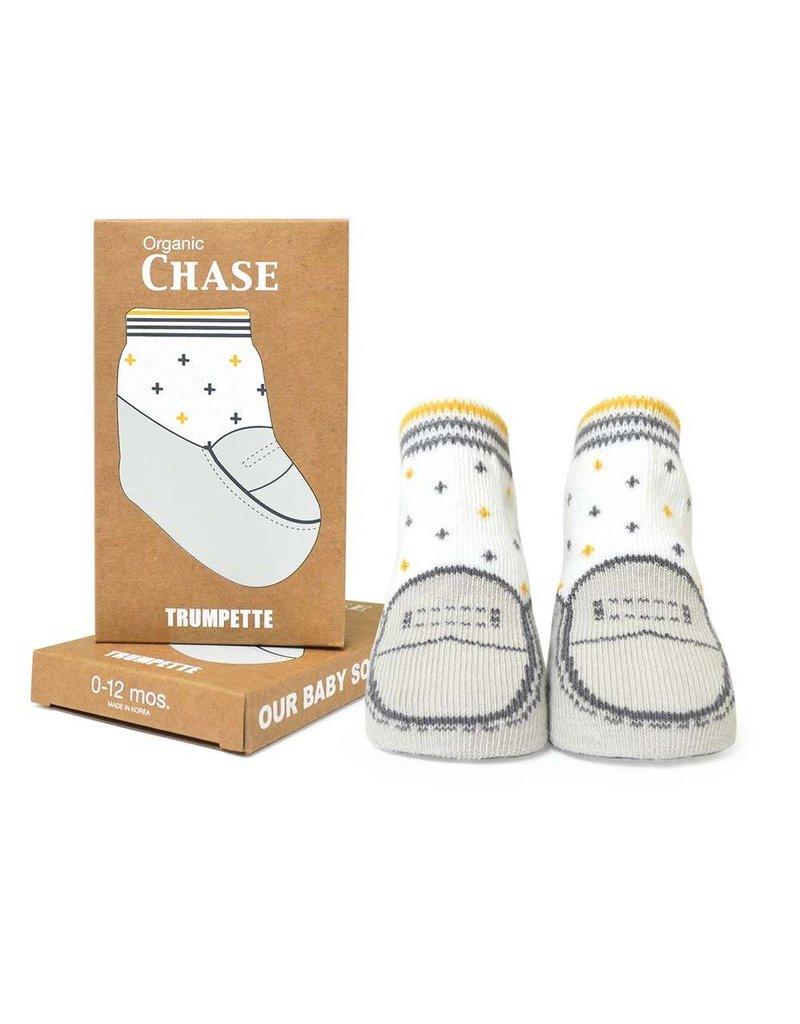 TRUMPETTE Organic Chase Grey Socks