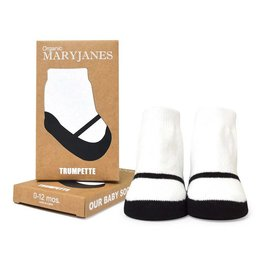 TRUMPETTE Organic Black Mary Jane Socks