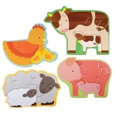 PETIT COLLAGE Farm Babies Beginner Puzzle