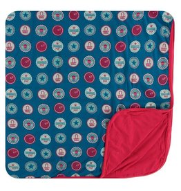 KICKEE PANTS Soda Pop Caps Toddler Blanket