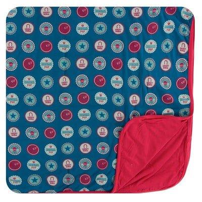 KICKEE PANTS Soda Pop Caps Toddler Blanket