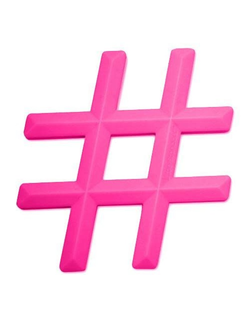 LITTLE STANDOUT Silicone Hashtag Teether