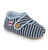 SEE KAI RUN Cruz Blue Stripes Crib Shoe