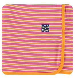 KICKEE PANTS Flamingo Brazil Stripe Swaddling Blanket