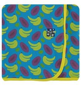KICKEE PANTS Tropical Fruit Swaddling Blanket