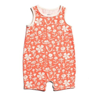 WINTER WATER FACTORY Tank-Top Romper - Garden Coral