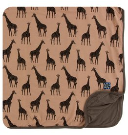 KICKEE PANTS Suede Giraffes Toddler Blanket