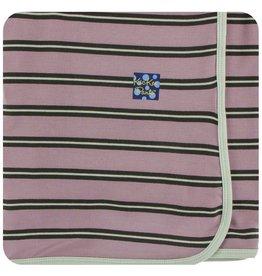 KICKEE PANTS Elderberry Kenya Stripe Swaddling Blanket