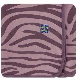 KICKEE PANTS Elderberry Zebra Print Swaddling Blanket