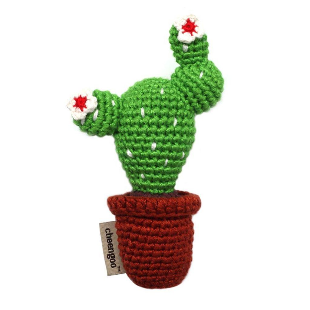 CHEENGOO Cheengoo Crocheted Cactus Rattle