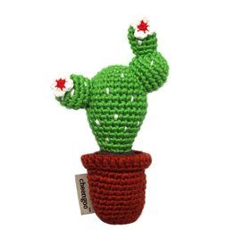 CHEENGOO Crocheted Cactus Rattle