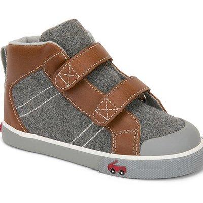 SEE KAI RUN Matty Grey Felt Sneaker