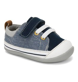 SEE KAI RUN Stevie II First Walker Blue Denim Sneaker