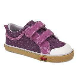 SEE KAI RUN Robyne Sneaker - Purple Dots