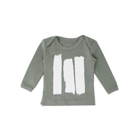 L'OVED BABY Seafoam Brush Strokes - Organic L/S Tee