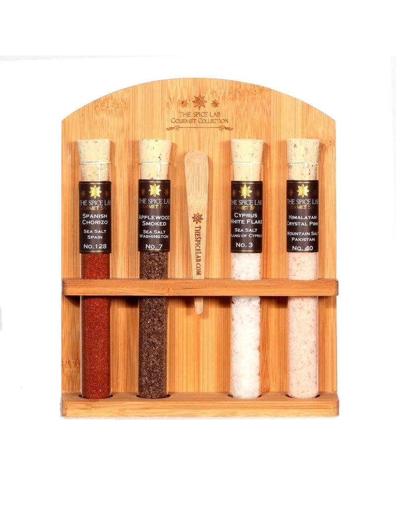 The Spice Lab 4-Tube Gourmet Salt Collection