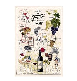 Torchons & Bouchons Tea Towel - Vins de France