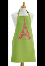 Torchons & Bouchons Apron - Macarons de Paris Green
