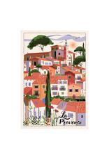 Torchons & Bouchons Tea Towel - Provence Village