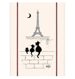 Torchons & Bouchons Tea Towel - Dubout Eiffel Tower