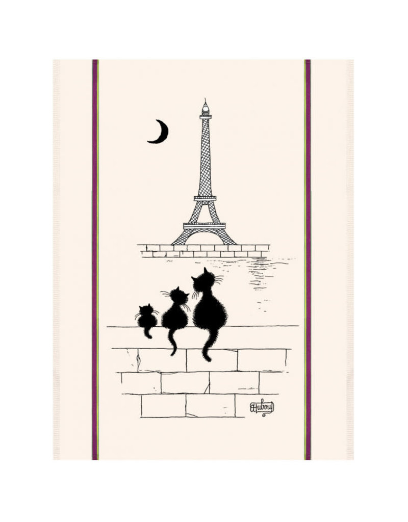 Torchons & Bouchons Tea Towel - Dubout Eiffel Tower