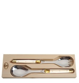 Jean Dubost Jean Dubost Salad Servers with Ivory Colored Handles