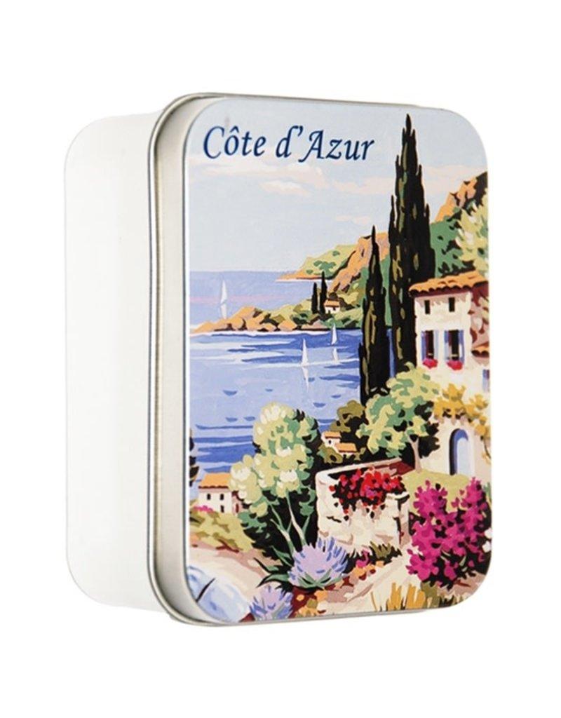 Savon Le Blanc Lavender Soap in Cote d'Azur Metal Tin