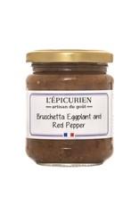 L'Epicurien Bruschetta Eggplant & Red Pepper