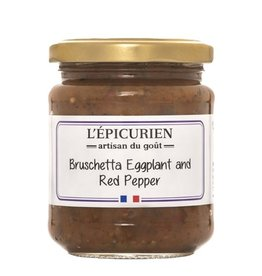 L'Epicurien Bruschetta Eggplant & Red Pepper